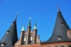 Dach des Holstentors